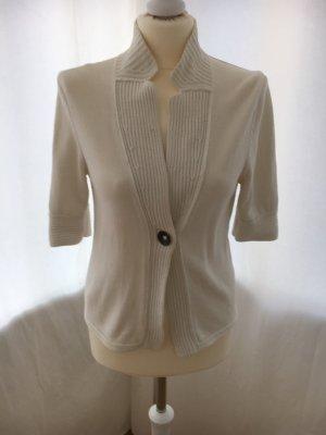 Iris von Arnim Cardigan a maniche corte bianco-bianco sporco