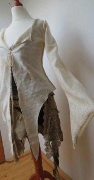 Veste chemise blanc-beige clair