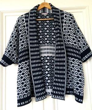 Strickjacke Kimono Graphic Muster Cardigan Boho Trend Norweger