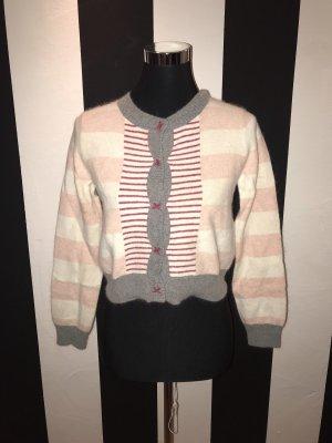 Veste en tricot multicolore