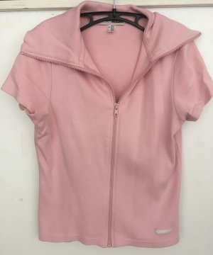 FlashLights Short Sleeve Knitted Jacket pink cotton
