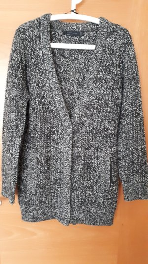 Zara Coarse Knitted Jacket black-silver-colored