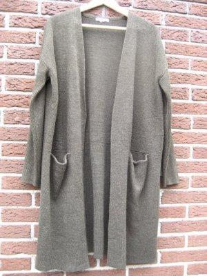 Strickjacke lang in olivgrün, H&M, Größe 40/ 42