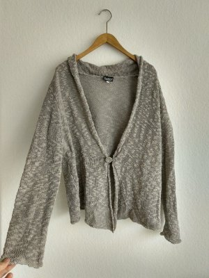 Deerberg Coarse Knitted Jacket grey-light grey linen