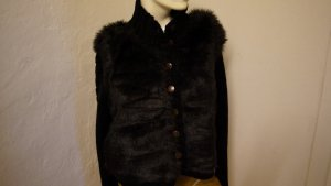 Coarse Knitted Jacket black mixture fibre
