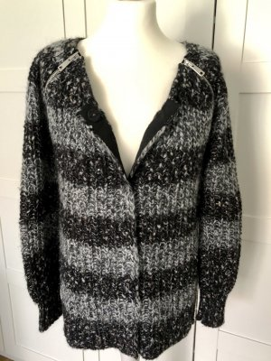Strickjacke Maison Scotch grau schwarz 36