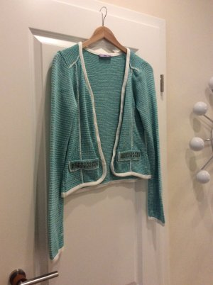 Strickjacke mint Nieten
