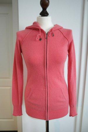 Strickjacke mit Kapuze aus 100% Kaschmir von Juicy Couture in pink