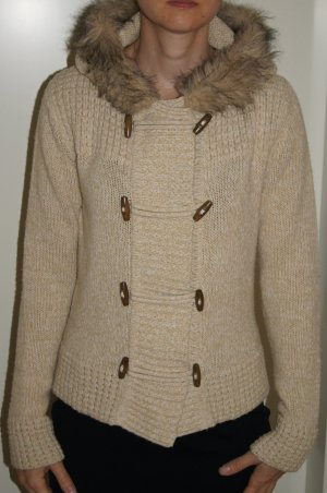Heine Coarse Knitted Jacket cream polyacrylic