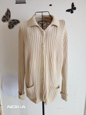 Chaqueta de lana crema