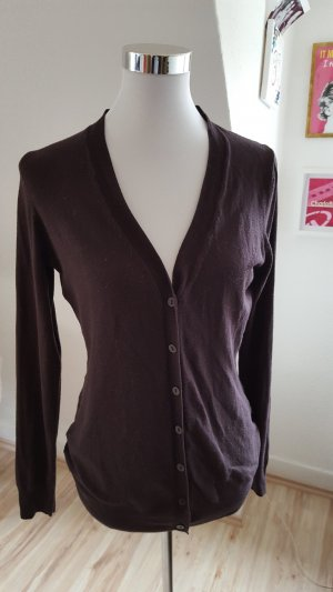 Zara Cardigan black brown mixture fibre