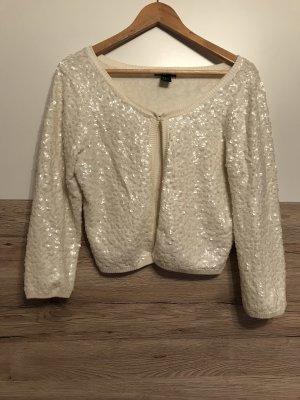 H&M Giacca di lana bianco sporco