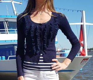 Strickjacke mit Rüschen maritim Cardigan sommer