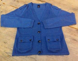BC Veste en tricot gris ardoise laine mérinos