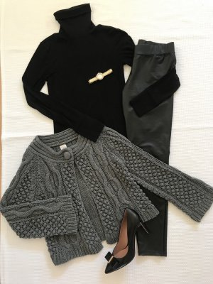 Knitted Cardigan grey-anthracite