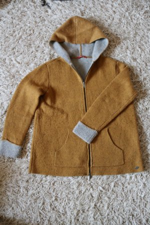 edc by Esprit Coarse Knitted Jacket sand brown wool