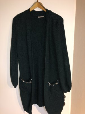 Orsay Knitted Coat forest green-petrol