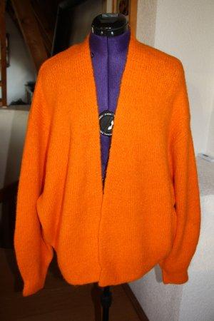H&M Grof gebreid vest oranje Gemengd weefsel