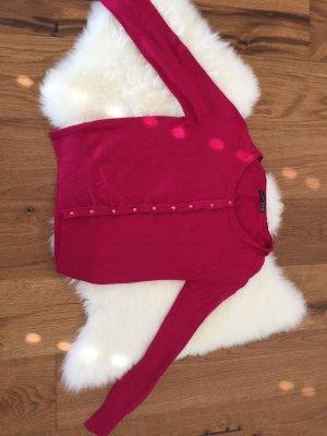Strickjacke pink mit tollen Knöpfen im Edelstein-Look