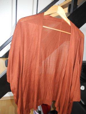 Strickjacke-Poncho - Gr. v. 40 bis 44, Farbe Rostbraun