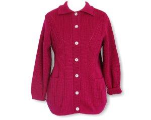 Cardigan dark red cotton
