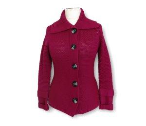 Strickjacke, Pullover kuschlig, warm, modern, Gr. M, Knöpfe, Lila.Rot