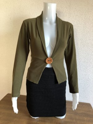 Strickjacke Pullover Pulli Cardigan Armegrün