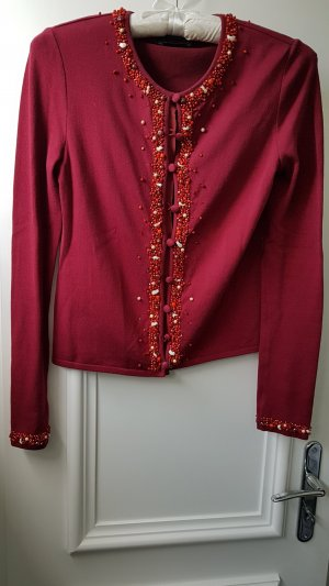 Strickjacke, Rena Lange, Gr.38, rot-orange