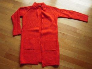 Strickjacke rot lang Gr. 32/34