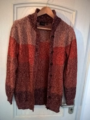 Strickjacke rot-orange meliert