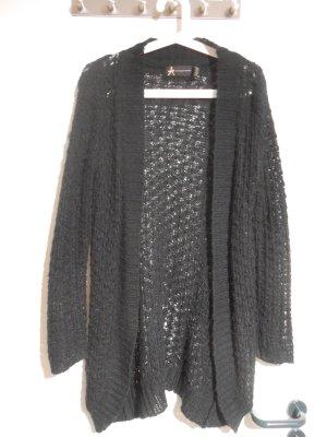 Atmosphere Coarse Knitted Jacket black
