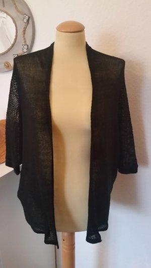 Strickjacke schwarz Cardigan Gr. 38