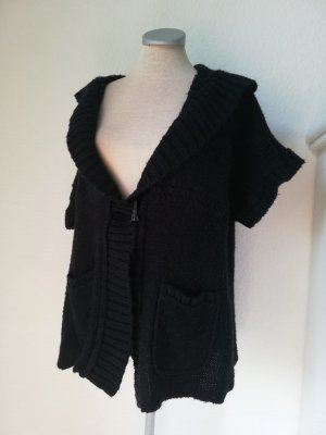 Strickjacke schwarz Gr. UK 20 48 gothic Cardigan kurzarm