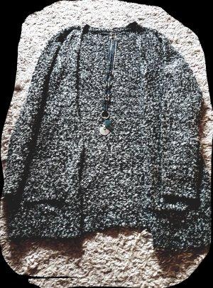 Strickjacke schwarz/ grau