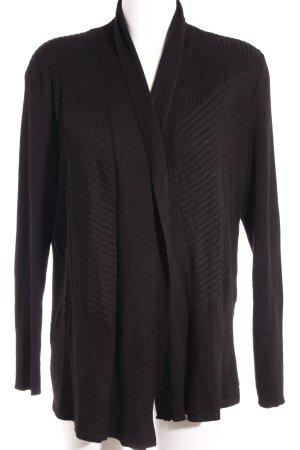 Giacca in maglia nero stile classico