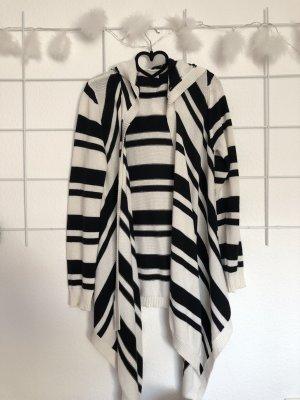 Amisu Giacca lunga crema-nero