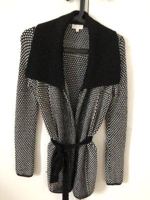 Strickjacke schwarz/ weiß XS