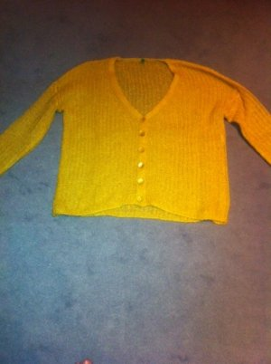 Strickjacke, senfgelb, von Benetton