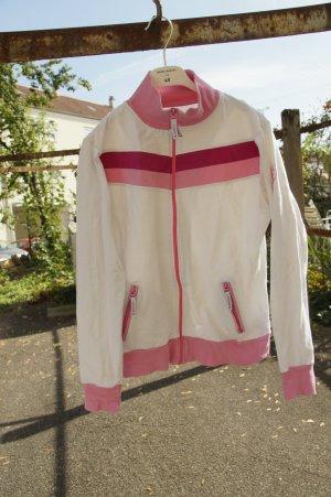 Strickjacke* Sportlich* Pink Weiß*