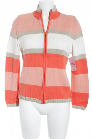 Cardigan striped pattern casual look