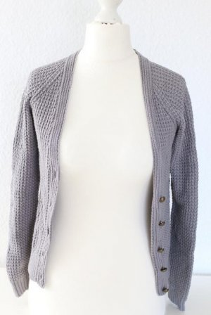 Strickjacke / Strickweste in grau