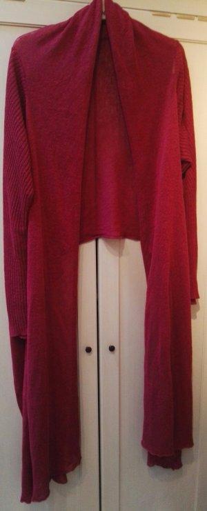 Veste en tricot rouge carmin-violet