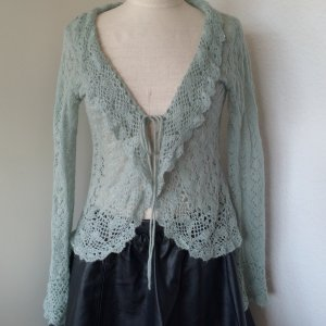 Strickjacke - transparent mit Perlendeteils