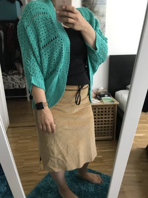 Laura Scott Cárdigan de manga corta turquesa