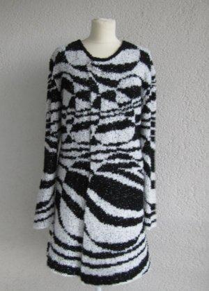 Bexleys Cappotto a maglia nero-bianco Acrilico