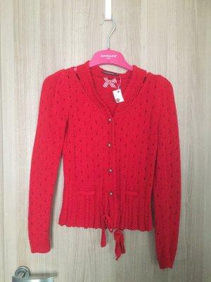 Strickjacke von der Marke Stockerpoint in einem schönen rot in Gr.36