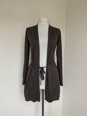 Hallhuber Knitted Coat grey brown-taupe