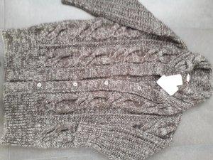 Laurèl Grof gebreid vest brons-wit Wol