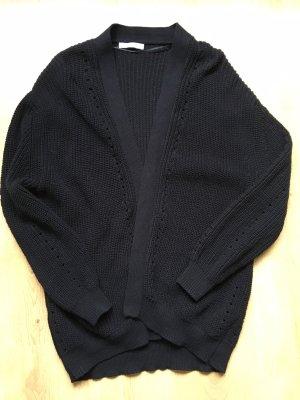 Mango Grof gebreid vest zwart