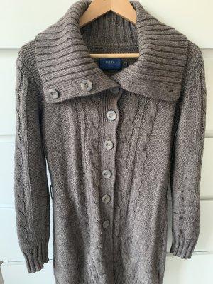 Mexx Manteau en tricot gris brun